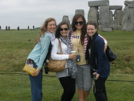 Wake Students in front of Stonehenge